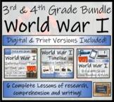World War I Timeline & Activity Bundle Digital & Print   3rd Grade & 4th Grade