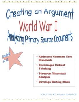 World War I Document Based Analysis