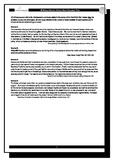 IB History - World War I Document Based Test