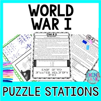World War I PUZZLE STATIONS: Woodrow Wilson, Treaty of Versailles, Allied Powers