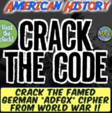 "World War I Escape Room: Students Crack the German ""ADFGX"""