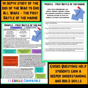 World War I - First Battle of the Marne Reading!