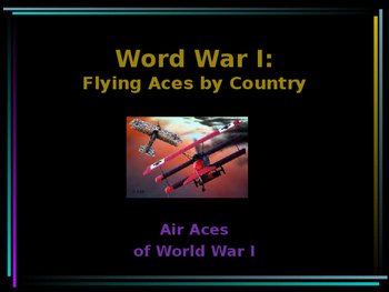 World War I - Flying Aces by Country