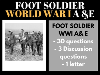 World War I Foot Soldier A & E Video Guide