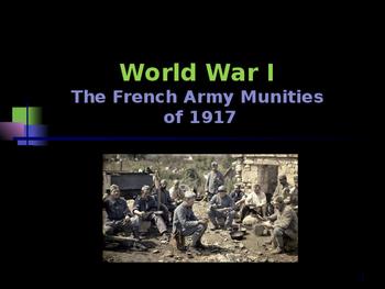 World War I - French Army Mutinies