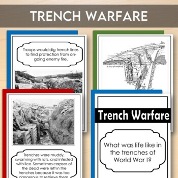World War I: Gallery Walk (Trench Warfare Stations)