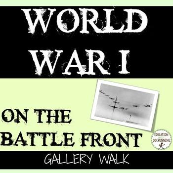 World War I Primary Source Gallery Walk Activity of World War I front