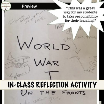 World War I Primary Source Gallery Walk Activity of World War I front