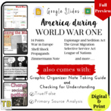 World War I Google Slides with Note Taking Guide & Checking for Understanding