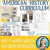 World War I | Great Depression | Roaring Twenties Unit Bundle