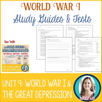 World War I, Great Depression Study Guides and Tests