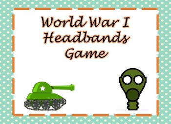 World War I Headbands Game (Digital Version)