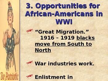 World War I Homefront PowerPoint
