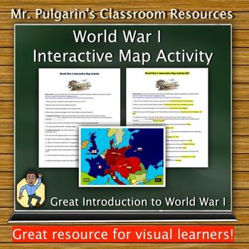 World War 1: Interactive Map Activity