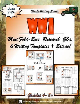 World War I Interactive Mini Research  Fold-Ems and Activities