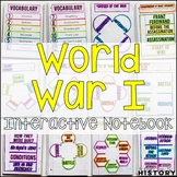 World War I Interactive Notebook & Graphic Organizers World History