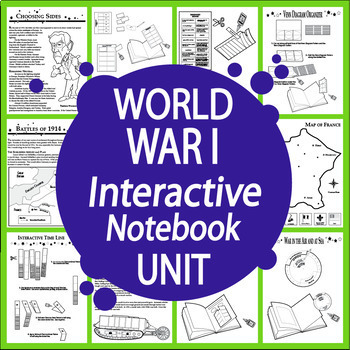 World War I Interactive Notebook (HARD COPY) 12 World War One Lessons