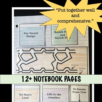 World War 1 Interactive Notebook Graphic Organizers for World War I Unit