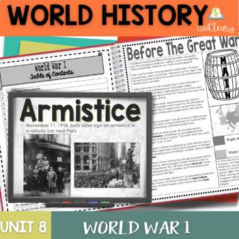 World War I Interactive Notebook Unit Bundle