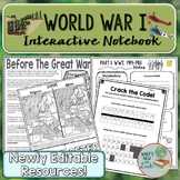 World War 1 Interactive Notebook Complete Unit