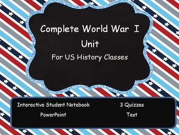 World War I Interactive Student Notebook Complete Unit - U