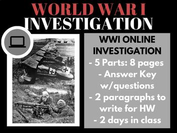 World War I Investigation -