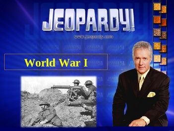 World War I JEOPARDY!