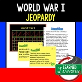 US History World War I Jeopardy