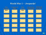 World War I Jeopardy