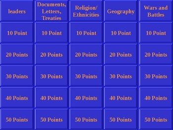 Pre-World War I Jeopardy