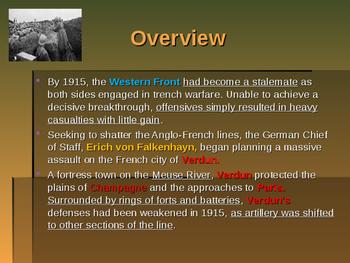World War I - Key Battles of 1916 - Battle of Verdun