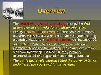 World War I - Key Battles of 1917 - Battle of Cambrai
