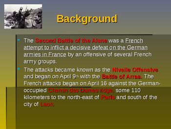 World War I - Key Battles of 1917 - Second Battle of Aisne