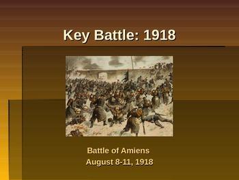World War I - Key Battles of 1918 - Battle of Amiens