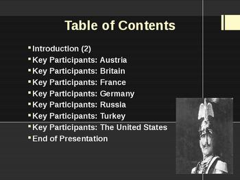 World War I - Key Participants of the War