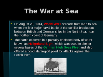World War I - Key Naval Battles - Battle of Heligoland Bight