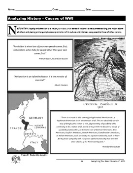 World War One Lesson: M.A.I.N. Causes of WWI