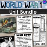 World War I Lesson Unit Bundle 5th grade SS5H2 WWI