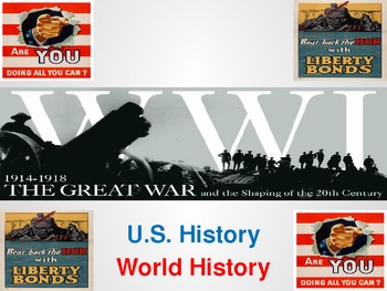 World War I Lessons and Powerpoint