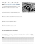 World War I: Life in a Trench Video Guide and Writing Activity