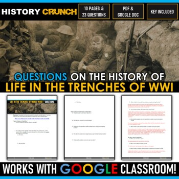 World War I Life in the Trenches - Reading, Questions and Key (13 Pages!)