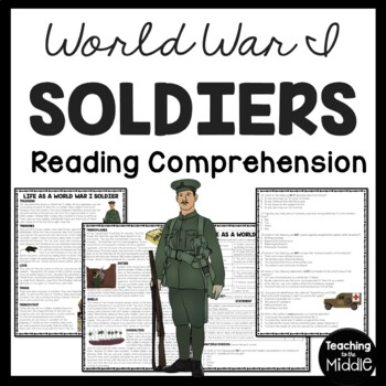 World War I- Life of a Soldier- Reading Comprehension Worksheet, trench warfare