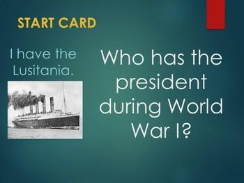 World War I Loop Cards