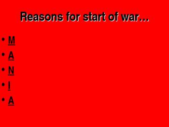 World War I M.A.N.I.A PPT