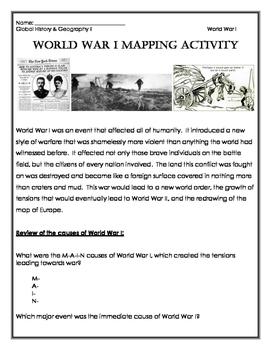 World War I Mapping Activity