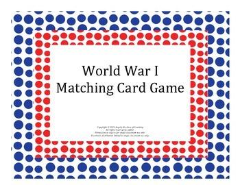 World War I Matching Card Game