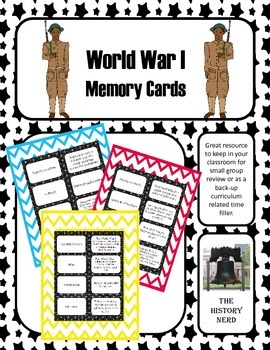 World War I Memory Cards