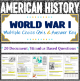 World War I Multiple Choice Assessment