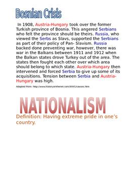 World War I: Nationalism poster assignment
