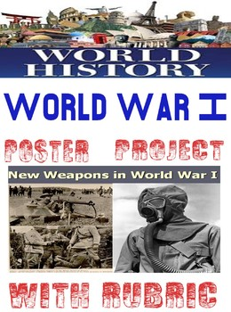 World War I New Type of War Weapon/Tactics Poster Rubric with Examples